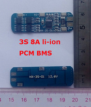 3S 8A 12.6V lipo lithium Polymer BMS/PCM/PCB battery protection circuit board for 3 Packs 18650 Li-ion Battery Cell(China)