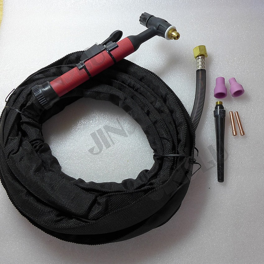 Free Shipping QQ150 QQ-150A Tig Welding Torch With 4M Cable Silicone tube Gas and Cable Whole For Welding Machine 150A <br>
