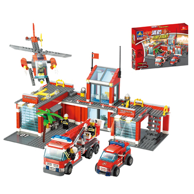 New City Fire Station 774pcs/set Building Blocks DIY Educational Bricks Kids Toys compatible with lepin Best Kids Xmas Gifts<br><br>Aliexpress