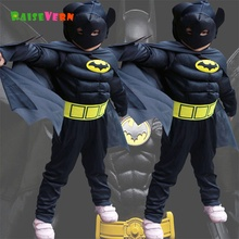 Halloween Superhero Spiderman Children Superman Boy Anime Performance Clothes Suit Kids Party Carnival Cosplay Batman Costume(China)