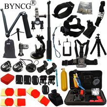 Buy BYNCG Gopro Accessories set GoPro Hero 5 4 3 Kit Mount SJCAM SJ4000 Xiaomi Yi Go Pro Camera Eken H9 Tripod Chest Head Strap for $38.50 in AliExpress store