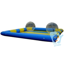 4*6m Inflatable Swimming Pool Water Games Park Including 2pcs PVC Water Walking Ball Free Air Pump