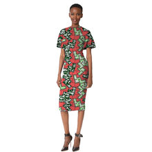 Sexy Casual Style Brightly Colored Print African Dress Slim Fit Ladies Dress  Custom Made Dashiki Clothes e1b9837f0041