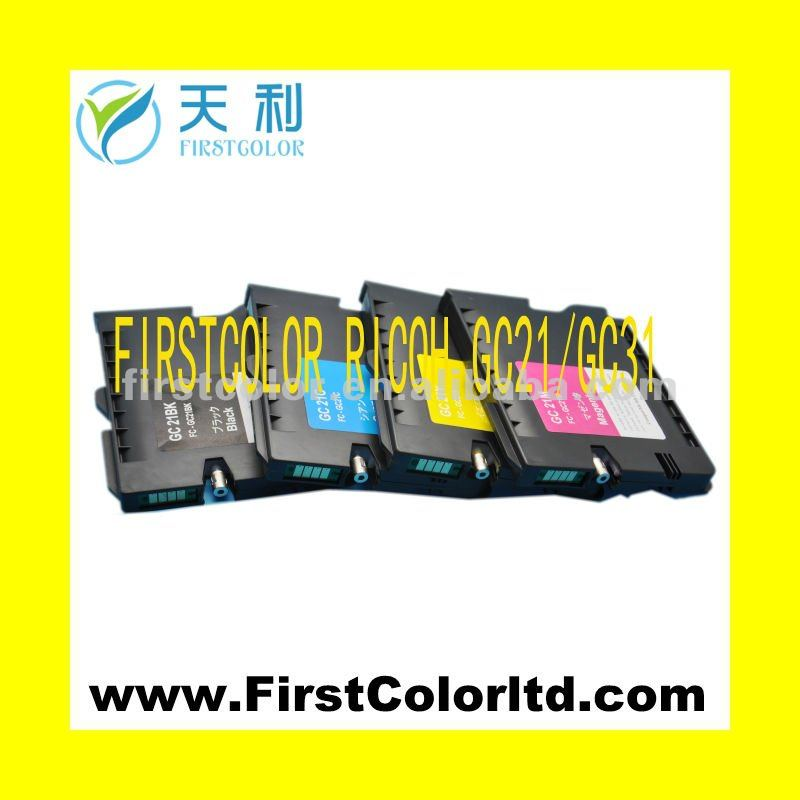compatible ink cartridges for Ricoh Gc21bk/c/m/y sublimation ink for ricoh<br>