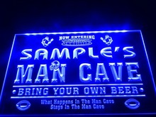 DZ031- Name Personalized Custom Man Cave Football Bar Beer LED Neon Light Sign(China)