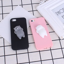 Squishy 3D Cartoon Panda Seal Sea Lion Silicon Case For Iphone 7 Couque For Iphone 7 7 Plus 6 6S 5 5S Case Soft TPU Cover Capa