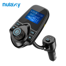 Nulaxy Car MP3 Player Wireless FM Transmitter Hands-free Bluetooth Car Kit USB Charger With Power On/Off Car FM Modulator(China)