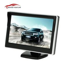"5"" TFT LCD Car Monitor Auto TV Car rear view camera with mirror monitor Parking Assistance Backup Reverse Monitor Car DVD Screen(China)"