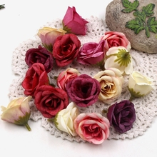 10pcs Silk Artificial Fresh Rose Flower Head For Wedding Party Festive Decoration Marriage Flores DIY Handmade Craft Flower