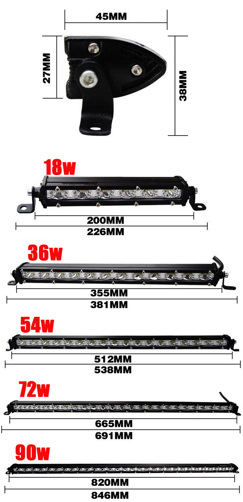 super slim Straight Single Row led light bar offroad work light spot beam driving workling lamp barra led work bulb SUV ATV 4x4 4WD UTV RZV Trailer Driving Yellow White 3000k fog light foglight foglamp headlight (1 (7)