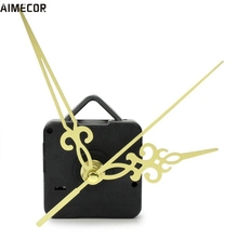 Aimecor 1PC Happy Gifts Black Fashion Simple Gold Hands DIY Quartz Wall Clock Movement Mechanism Replacement #