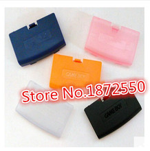 Hot 15 pcs/Lot Black/Clear/Orange/Blue/Pink Color Battery Cover for Gameboy Advance GBA Console Battery Cover Girl / Boy Gift