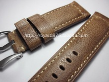 personality 24mm Handmade Italian excellent Vintage Genuine Leather Watch Band Strap Watchband Strap for Panerai PAM 31211142441
