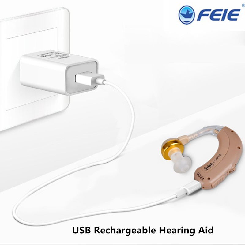 2017 New arrival C-109 Behind Ear Hearing Aid Best Sound Amplifier For The Elderly Deaf Hearing Loss Free Shipping <br>
