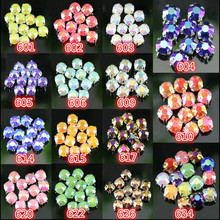 DIY 100pcs/bag,SS30,6mm,14 color,roundness Jelly ab resin crystal rhinestone Handmade sew on claw rhinestone stone Silver bottom