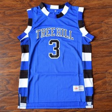 MM MASMIG Lucas Scott #3 One Tree Hill Ravens Basketball Jersey Stitched Blue S M L XL XXL XXXL(China)