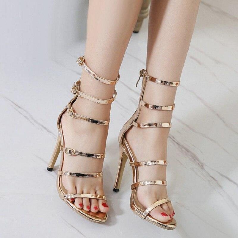 Women Sandals Plus Size 33-43 Fashion Zip High Heel Summer Women Pump Shoes Woman Office Women Shoes zapatos mujer<br>