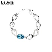 BeBella water drop crystal bracelet made with Austrian crystals from Swarovski 5 colors available for Christmas gift