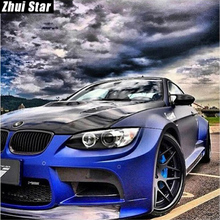"Zhui Star Full Square Drill 5D DIY Diamond Painting ""Blue car"" 3D Embroidery Cross Stitch Mosaic Set Home Decor Gift VIP(China)"