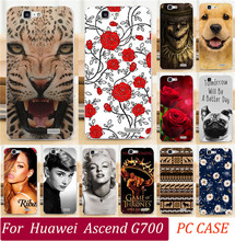 Painted Cases For Huawei Ascend G700 Phone Case Sexy Girl Cool Captain Totem Eiffel Tower Skull Rose Dog Cat Phone Cover Shell