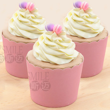 50pcs Pure Color Pink Rose purple White Yellow Green Blue  paper cupcake liners cases baking cup Birthday wedding party favors