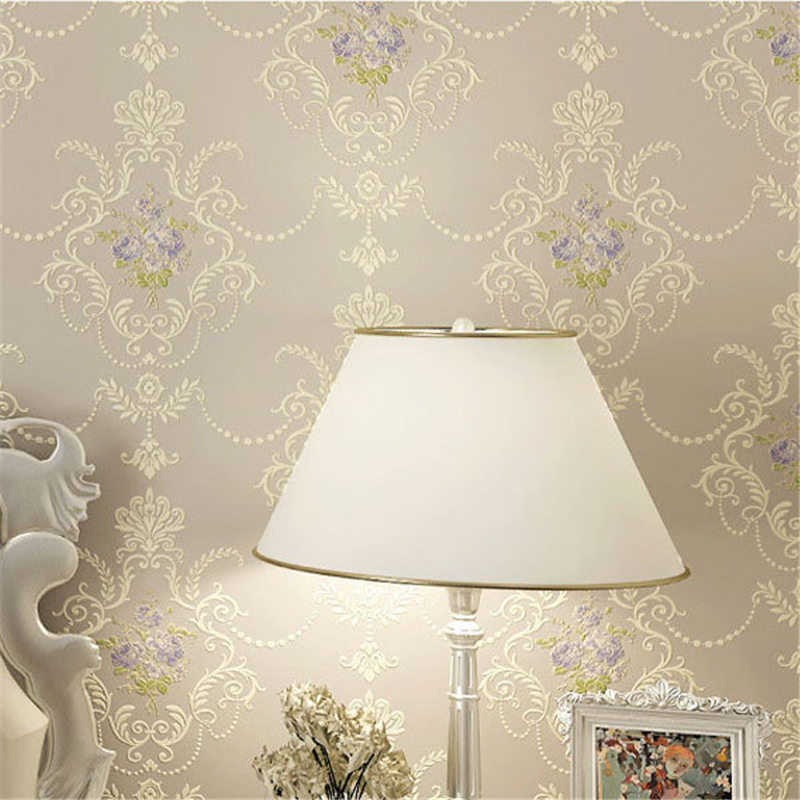 beibehang Pastoral Flowers Wallpaper roll Non-woven Wall papers Europe 3D Stereo Floral Papel Pintado Mural Papel Parede Wall<br>