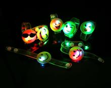 Ailin Light-Up Toy Emoji Smiley face light cartoon bracelet  Pvc soft wrist strap toys free shipping