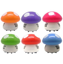 New Portable Cute Mini Mushroom Functional Corner Desk Table Dust Vacuum Cleaner Computer keyboard Clean Brushes