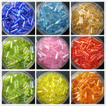 2017 New Pipe Balls 6mm Mixed Color Bugs Glass Balls DIY Seeds Bracelet Choker Necklace Making Jewelry Circle shape Tube beads