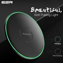 Buy QI Wireless Charger 10W, ESR Ultra Thin 7mm Desktop Mini Fast Wireless Charger iPhone X 8 Plus Samsung Note 8 S9 S8 S7 for $14.10 in AliExpress store