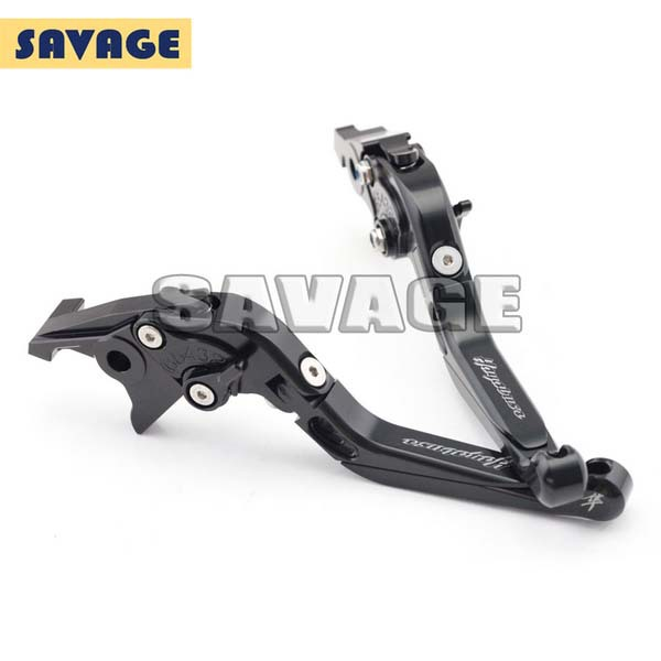For SUZUKI GSX1300 HAYABUSA 2008-2015 Motorcycle Accessories CNC Aluminum Folding Extendable Brake Clutch Levers Black<br>