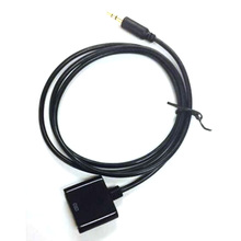 1pcs AUX 3.5mm Male To 30-pin Female For iPod iPhone Dock Adapter Cable Black P0.05(China)