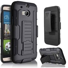 Premium 3 in 1 Armor Case for HTC One M8 Stand Cover Heavy Duty Hybrid Hard Rugged Coque Anti-Skid for HTC M8 Outdoor(China)