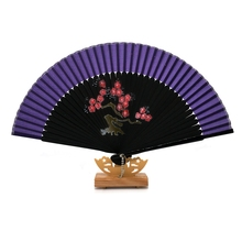 1PC Happy Gifts High Quality Seven Colors Japanese Cherry Blossom Folding Hand Dancing Wedding Party Decor Fan