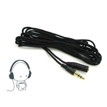 3.5mm Headphone Extension Cable Male-Male Audio Extension Cord Headset fone Cables AUX MP3 Cable Cord 2 m Black Hot Portable