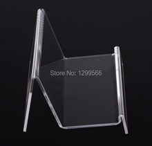 5pcs Hot sale single layer clear acrylic wallet display stand cell phone jewelry purse display stand holder rack J-020(China)
