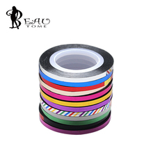 2015 3mm+20m New Korea Creative Widen Gold Silver Nail Art Line Classic 12 Color Nail Rolls Striping Tape Line Nail Decoration(China)