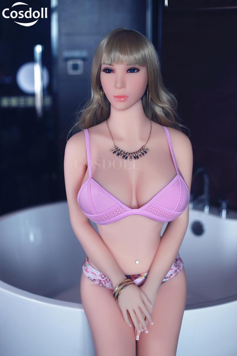 Cosdoll 158cm/165cm Euramerican TPE Silicone Sex Dolls Metal Skeleton,Full Size Love Doll,3D Vagina Sex Toys For Men Adult Sex