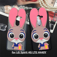 Buy Lovely Cartoon Rabbit Case LG Spirit 4G LTE H440Y H440N H440 H420 C70 Soft TPU Phone Cases Back Cover 3D Funda Pink Coque for $4.73 in AliExpress store