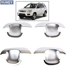Accessories FIT FOR 2005 2006 2007 2008 2009 2010 KIA SPORTAGE CHROME SIDE DOOR BOWL INSERT CAVITY COVER TRIM MOULDING CUP