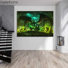 1 Piece Canvas Art Canvas Painting World of Warcraft Demon Hunter HD Printed Home Decor Poster Pictures for Living Room XA1519C