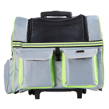 Portable Pet Carrier Dog Cat Rolling BackPack Travel Airline Wheel Luggage Bag(China)