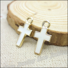 Buy Wholesale 70 pcs Enamel Alloy Gold-color Jewelry Cross Pendants charms bracelet necklace DIY jewelry making for $7.23 in AliExpress store