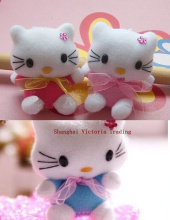 MIX Colors Colorful Kawaii Mini 6CM Hello Kitty Stuffed TOY Pendant Wedding Gift Bouquet TOY DOLL with string rope