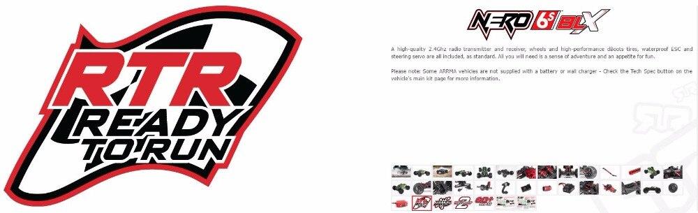 ARRMA ADS-08 diff Verrouillage Servo Set Nero AR390103