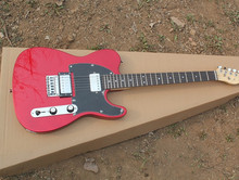 Factory Wholesale Red Body Electric Guitar with 2 Humbucking Pickups,Black Pickguard,Rosewood Fretboard ,Offer Customized