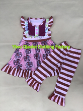 Wholesale children's boutique clothing fashion cute baby girls elephant pattern summer set