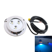 KSOL 3*2w Blue Stainless Steel IP68 Waterproof LED Marine Underwater Light Boat Yacht light(China)