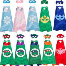 10set/lot Ninja Turtles Mask Snowflake Cloak Spiderman Kids Birthday Children's Day Gift Cosplay Party Supplies Supper Hero Mask