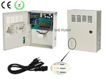 CCTV 9Channel AC 100-240V Input DC12V 10A UPS Box Power Supply Support Battery CE ROHS For CCTV Camera For CCTV Camera